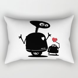 Robot Heart to Heart Rectangular Pillow