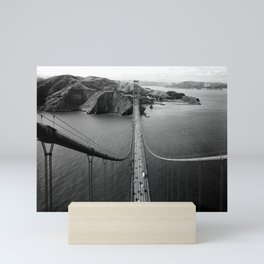 Golden Gate Bridge - View From Top Of The Southern Tower 1984 Mini Art Print