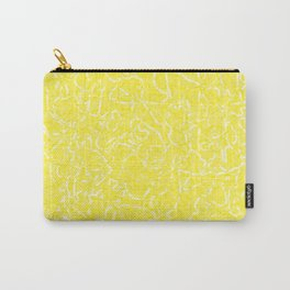 Chaotic white tangled ropes and yellow pastel lines. Carry-All Pouch