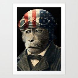 Animal tee vintage graphic design Art Print