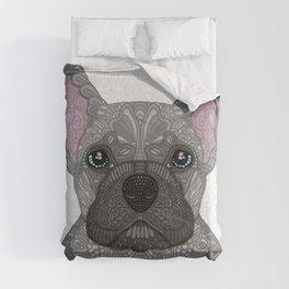 Blue French Bulldog Comforters