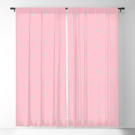 Girly pink teal ivory abstract geometrical polka dots Blackout Curtain