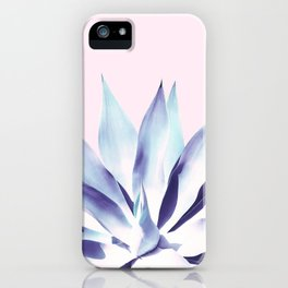 Solar Agave - Pastel blue on pink iPhone Case