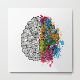 My Brain Metal Print