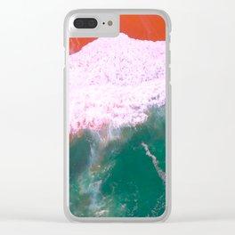 Water Print, Ocean Art Print, Sea, Wave, Wall Art Decor, Bathroom Print, Blue Water Poster, Bathroom Clear iPhone Case