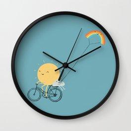 Rainbow Kite Wall Clock