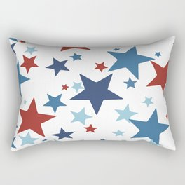 Stars - Red, White and Blue Rectangular Pillow