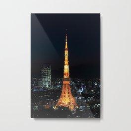 Tokyo Tower By Night Metal Print