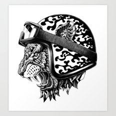 Tiger Helm Art Print