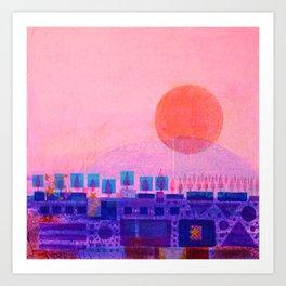Sunset over Sienna Art Print