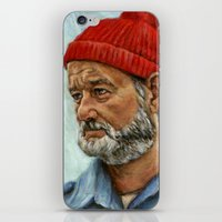 steve zissou iPhone & iPod Skins featuring Bill Murray / Steve Zissou by Heather Buchanan