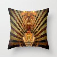 predator Throw Pillows featuring Predator by Robin Curtiss