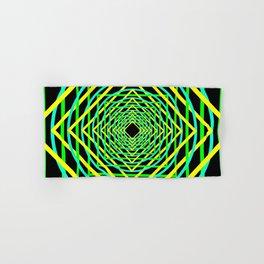 Diamonds in the Rounds Blacklight Neons Yellow Greens Hand & Bath Towel