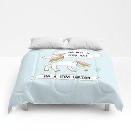I'm a gym unicorn Comforters