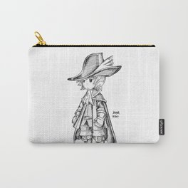Red Mage - Black and White Carry-All Pouch