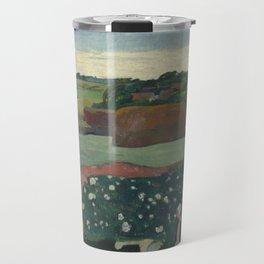 Paul Gauguin - Haystacks in Brittany Travel Mug