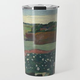 Paul Gauguin - Haystacks in Brittany Travel Mug