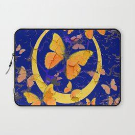 VINTAGE  YELLOW BUTTERFLIES SHABBY CHIC ART Laptop Sleeve