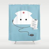 nurse Shower Curtains featuring Nurse Mo by NaMomochi