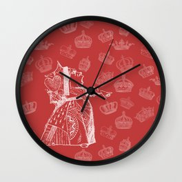 Queen of Hearts and Crowns Wall Clock