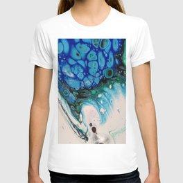 Unique Fluid Pour Acrylic Paint T-shirt
