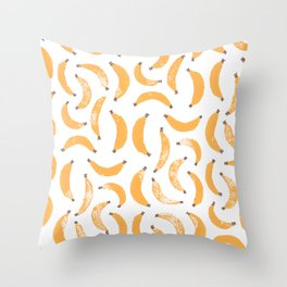 Bananananananas Throw Pillow