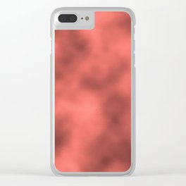 Pantone Living Coral Metal Foil Smooth Texture Blend Clear iPhone Case