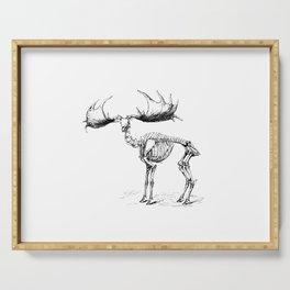Skeleton of a Monster Elk Deer Illustration Serving Tray