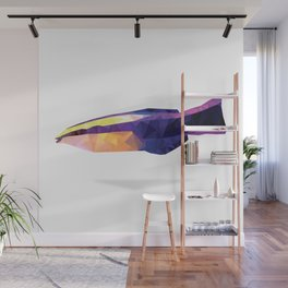 Geometric Abstract Hawaiian Royal Cleaner Wrasse Fish  Wall Mural