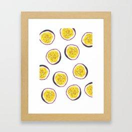 Passion fruit Framed Art Print