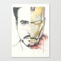 ironman Canvas Prints featuring Ironman by Dave Seedhouse.com