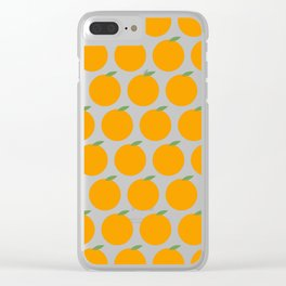 Syracuse, New York Orange Clear iPhone Case