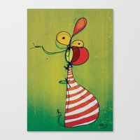 ballon Canvas Prints featuring Ballon Man by Gokce Gurellier