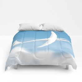 Glider in the sky. Comforters