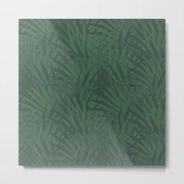 Green Leaves Tropical Jungle Background Design Metal Print