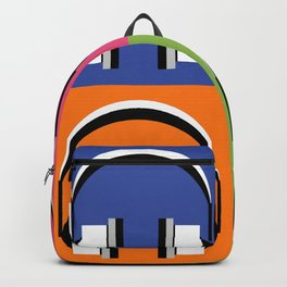 Headphones in bright colours Backpack