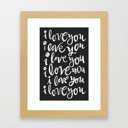 i love you | black Framed Art Print