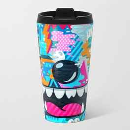 Face on a wall Travel Mug