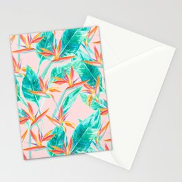 Birds of Paradise Blush Stationery Cards