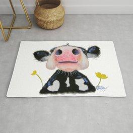 Nosey Friesian Cow ' DAFFODIL by Shirley MacArthur Rug