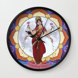 Lakshmi: Dancing by the Light of the Moon Wall Clock