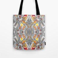 blueprint Tote Bags featuring Blueprint - multi by Etch by Design
