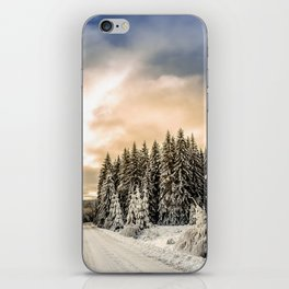 Winter Road #photography #society6 iPhone Skin