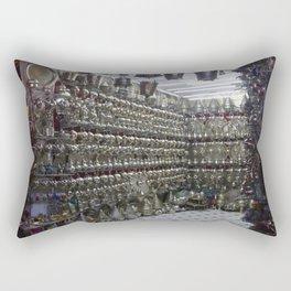 Silver in the Souk - (Marrakech) Rectangular Pillow