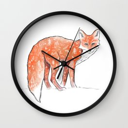 A forest fox Wall Clock