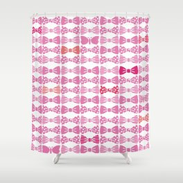 butterfly tie +pink Shower Curtain