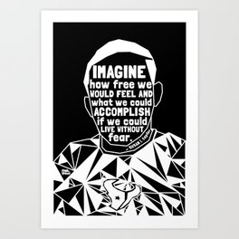 Jordan Edwards - Black Lives Matter - Series - Black Voices Art Print