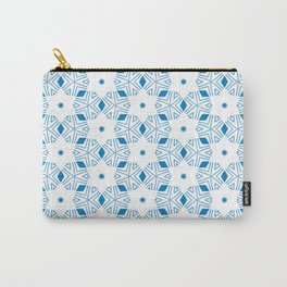 Shibori Stars (blue and white) Carry-All Pouch