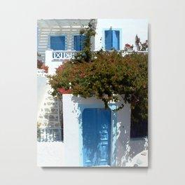 Greek Door IV Metal Print