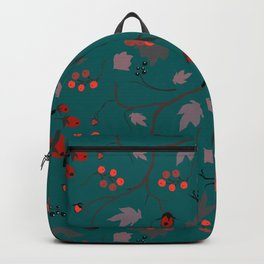 Red berry, Christmas Brier Spray Pattern Backpack